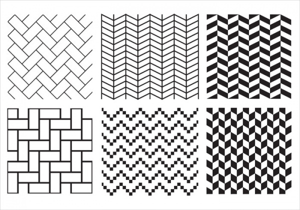 Black & White Herringbone Pattern Vector