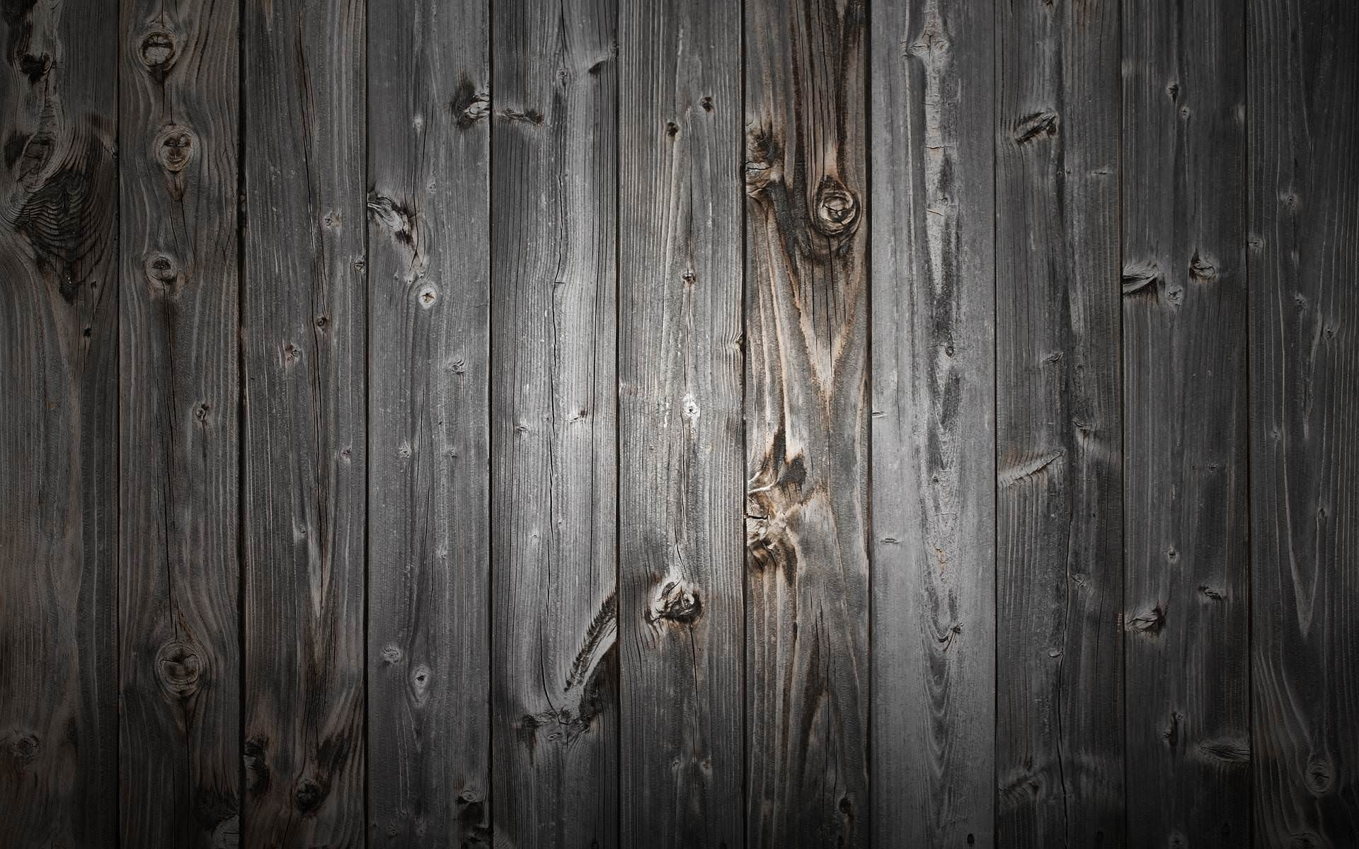 Black Wood Background with Grunge Effect