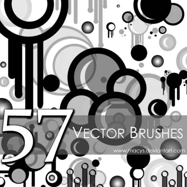 Black and White Circles Photoshop Brushes