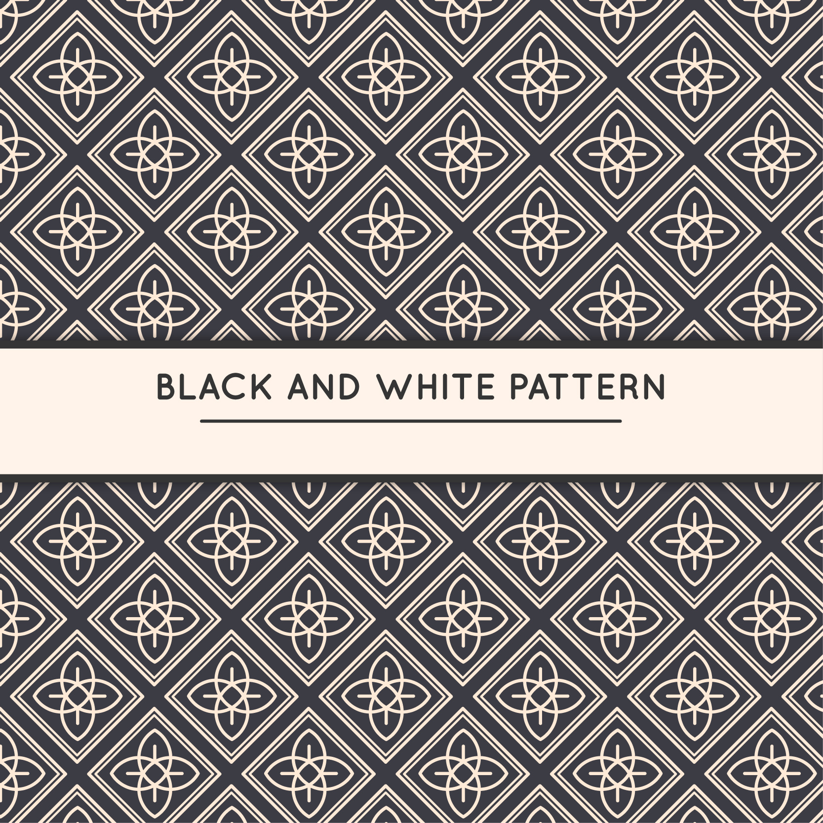 Black and white Free Vector Seamless Patterns