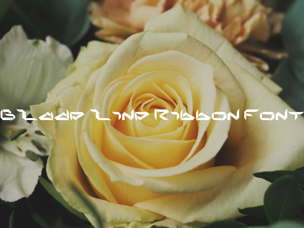 Bladeline Ribbon Font For Free
