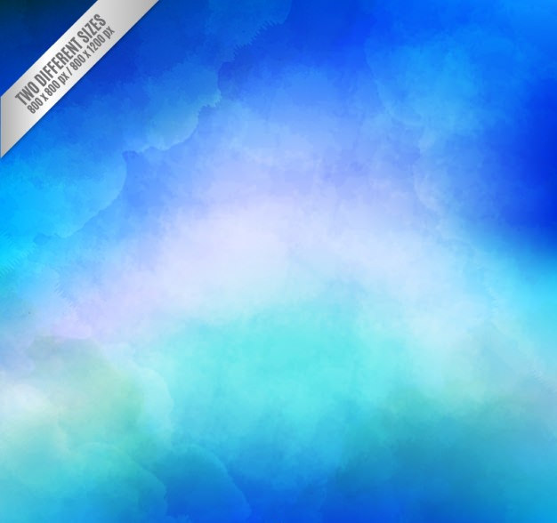 Blue Background in Watercolor Gradient Style