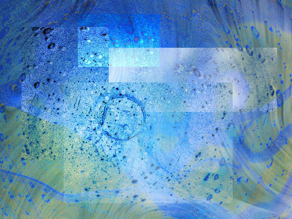 Blue Bubbled Montage Texture Background