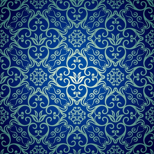 Blue Floral Seamless Background Design