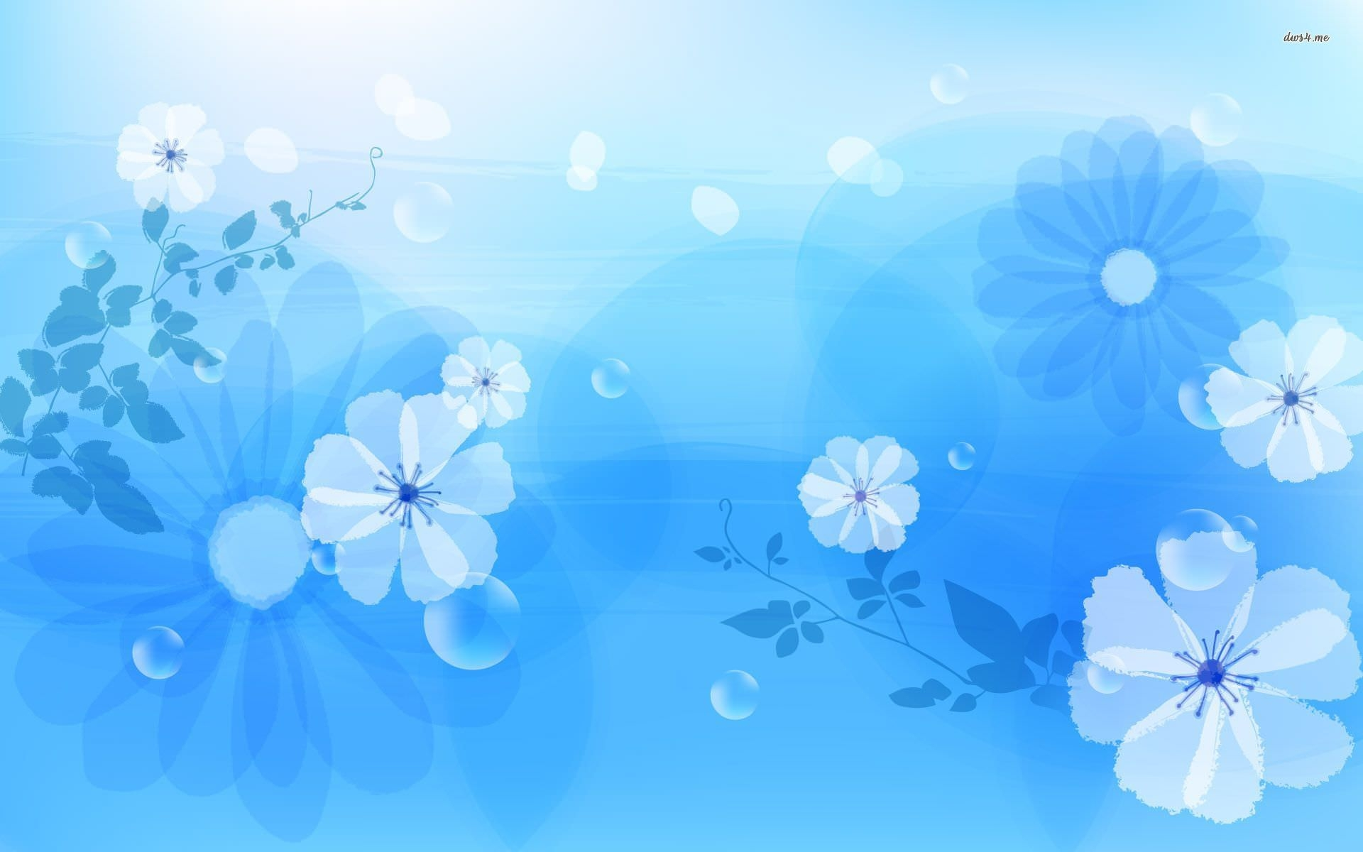 Blue Flowers Wallpaper for Desktop