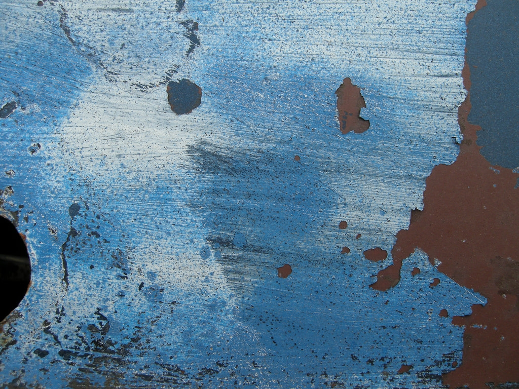 blue paint rust texture