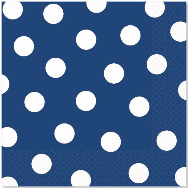 Blue Polka Dot Luncheon Napkins Background