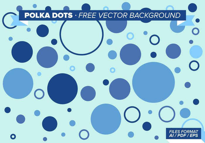 Blue Polka Dots Free Vector Background