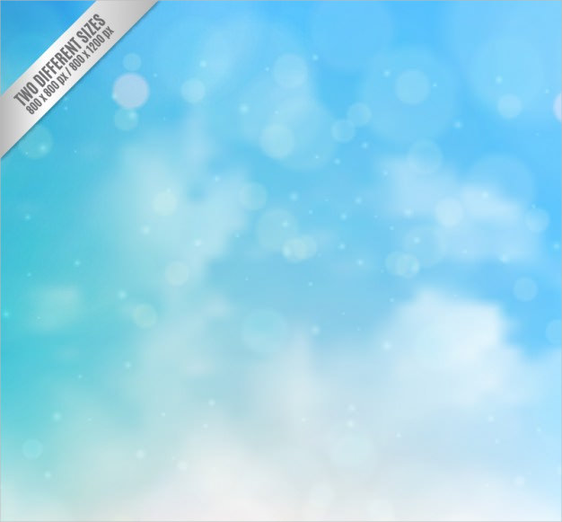 Blue Sky Background in Bokeh Style Free Vector