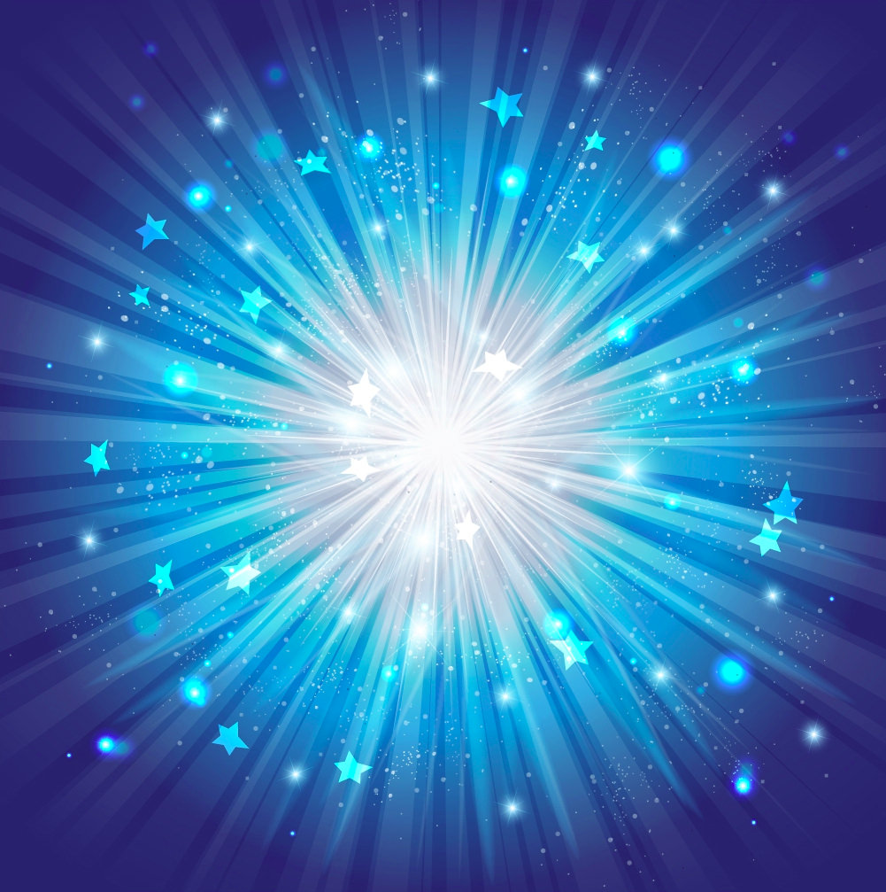 Blue Star Burst Gradient Background