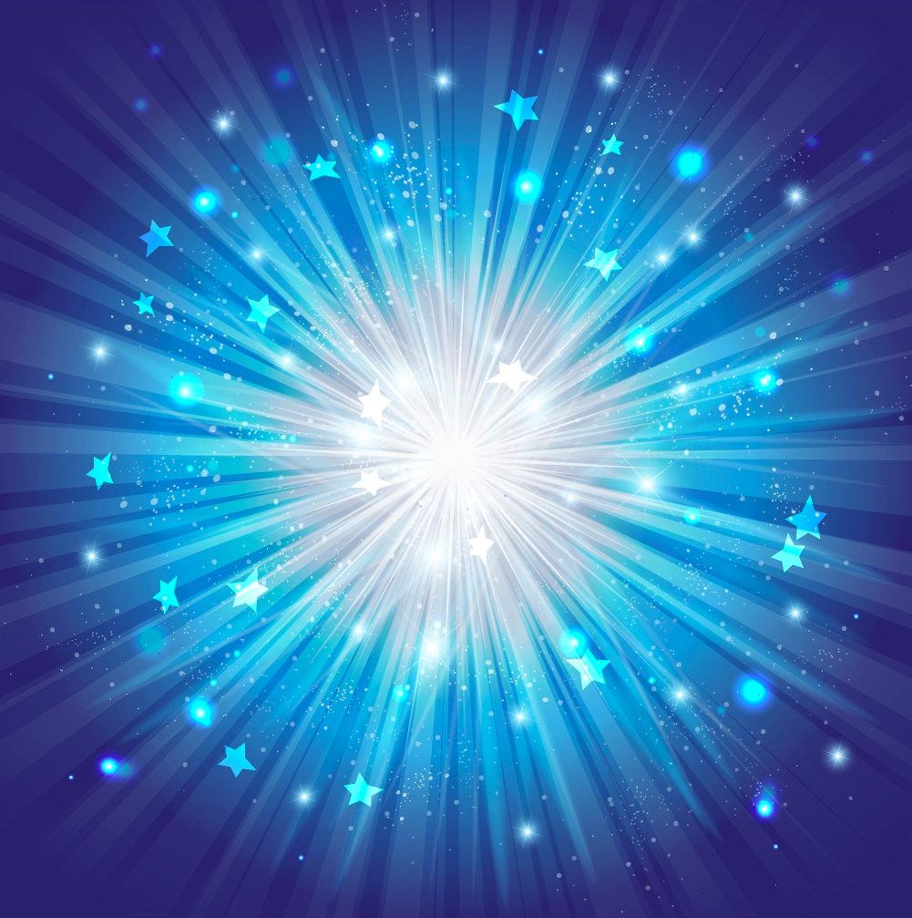 Blue Star Burst Gradient Background