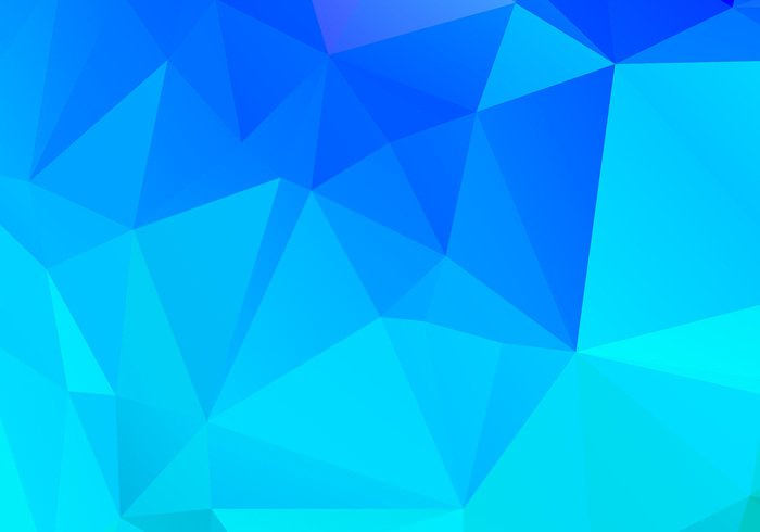 Blue Triangle Polygonal Design Background