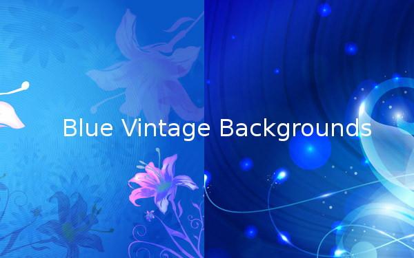 Blue Vintage Backgrounds