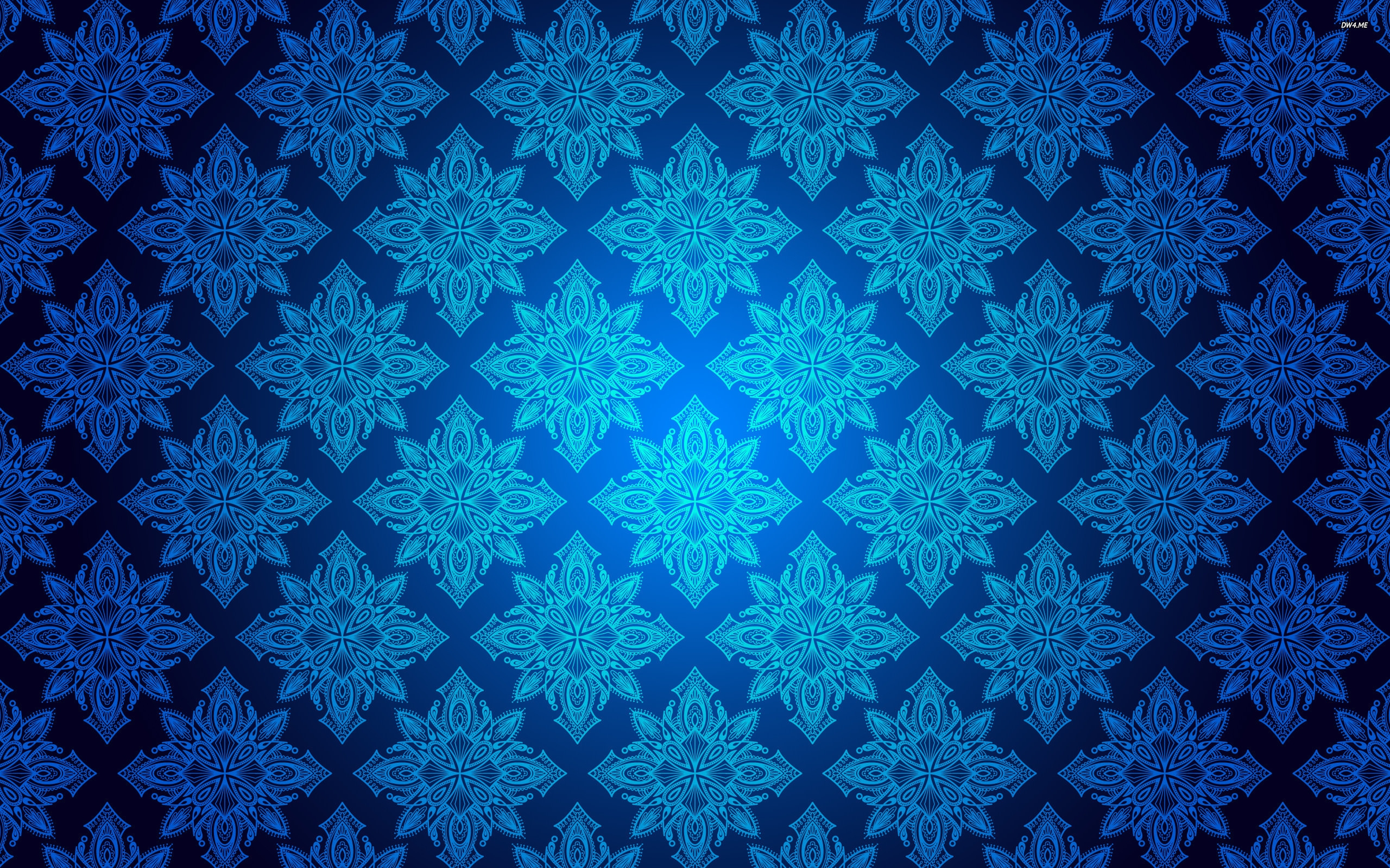 Royal Blue Vintage Wallpaper