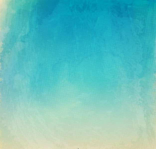 Blue Watercolor Texture Background in Summer Tones