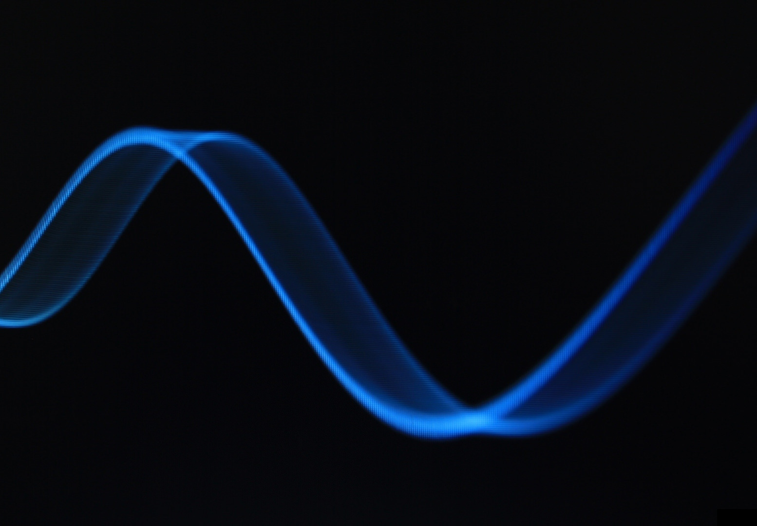 Blue Wave Line in Black Background