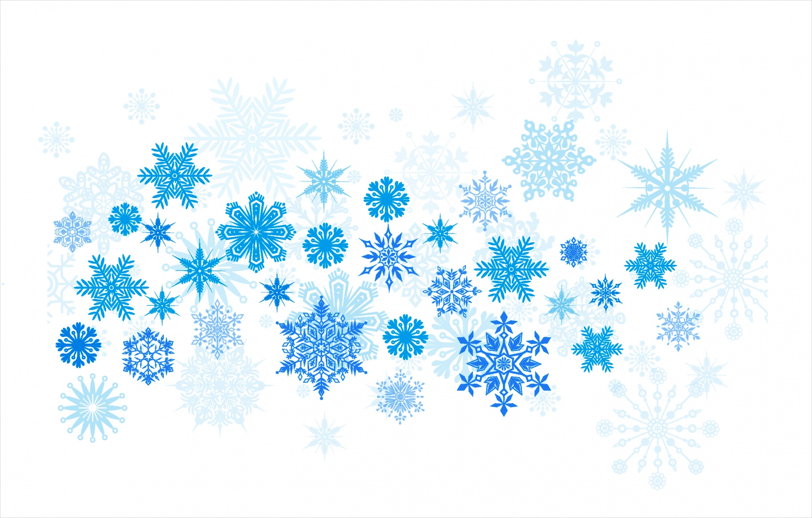 Blue & White Christmas Background Free Vector