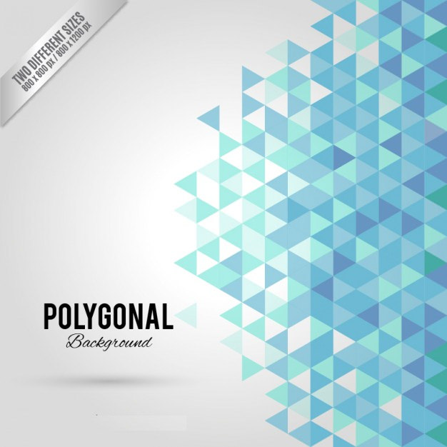 Blue & White Polygonal Background Free Vector
