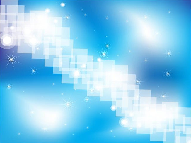 Blue & White Sparkling Vector Background