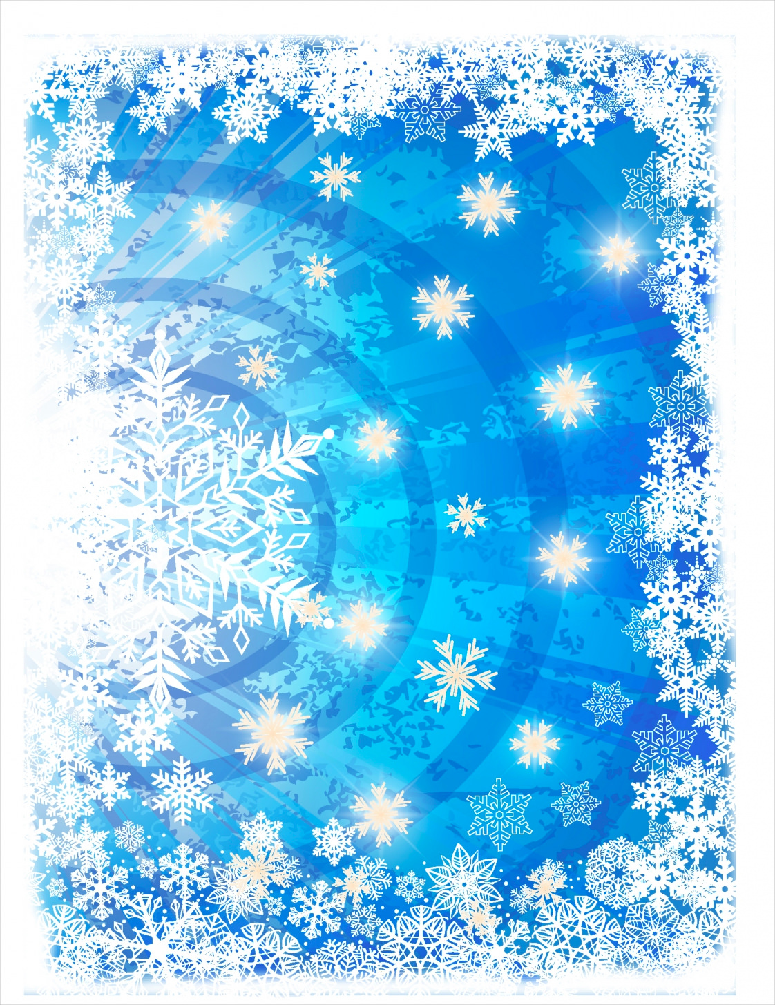 Blue & White Winter Background For Download