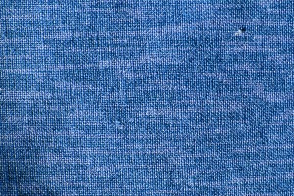 Blue Woven Fabric Close Up Texture