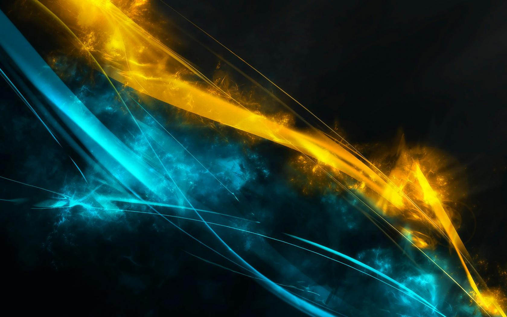 Blue & Yellow Streaks Free Download