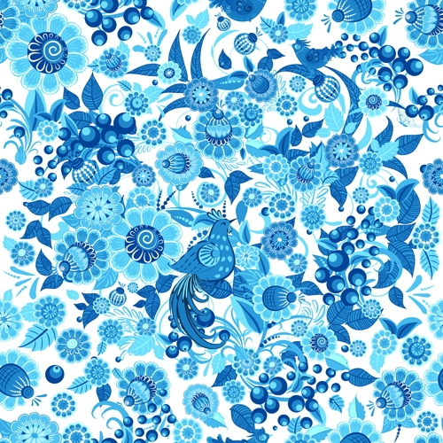 15+ Blue Floral Patterns | Flower Patterns | FreeCreatives