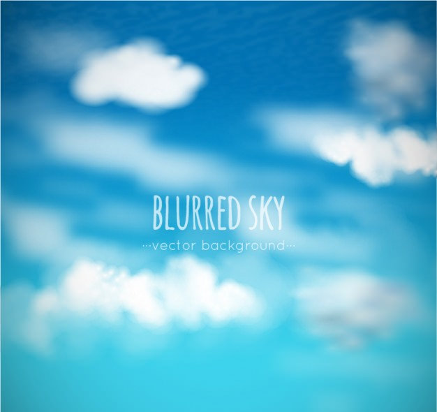 Blurred Blue Sky & Clouds Background