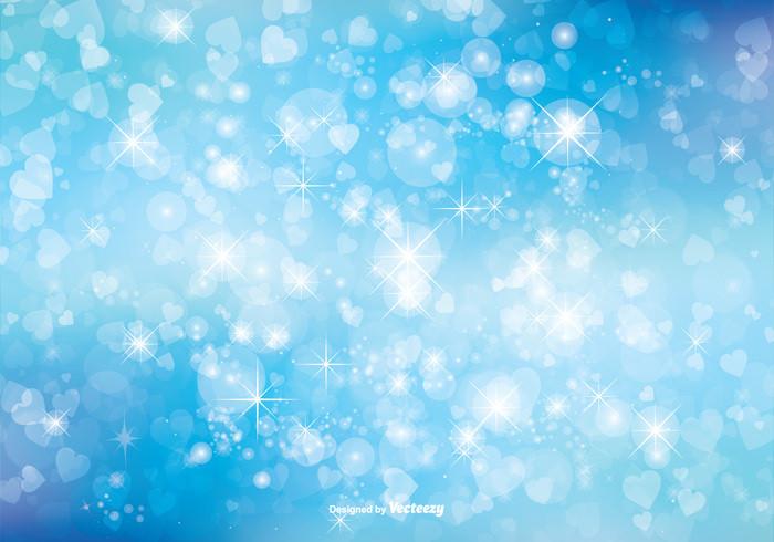 Bokeh Blue Glitter Background Illustration
