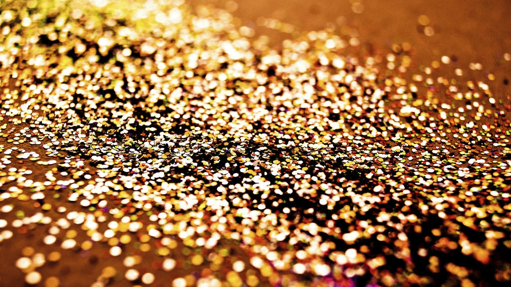 Bokeh Gold Glitter Background