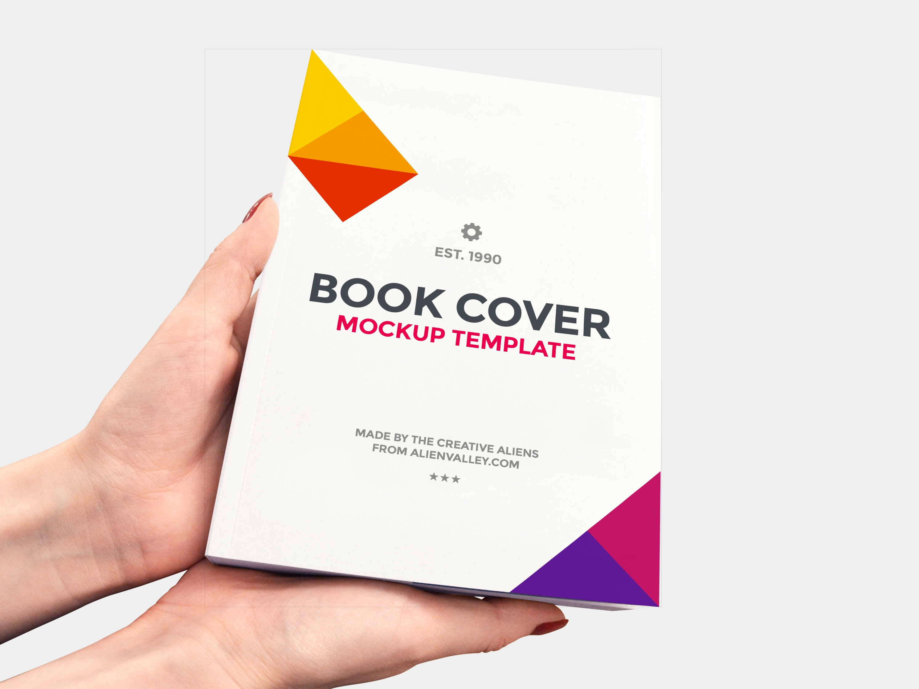 Creative Book Cover Images ~ Book cover mockup freecreatives