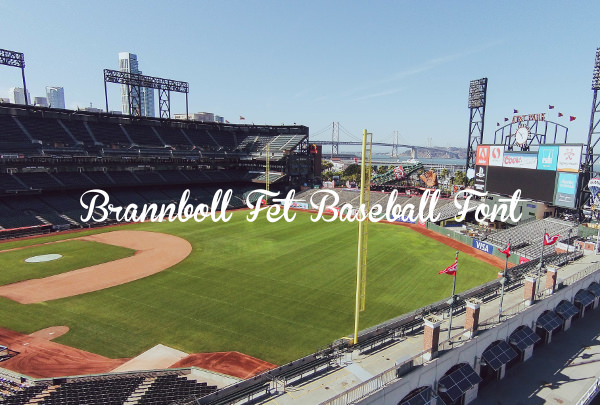 brannboll fet baseball font