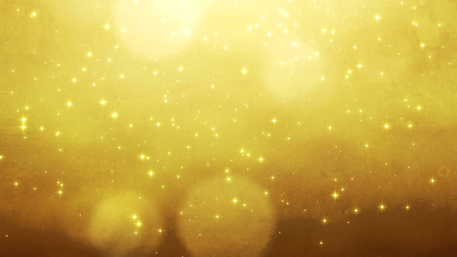 Bright Gold Glitter Background