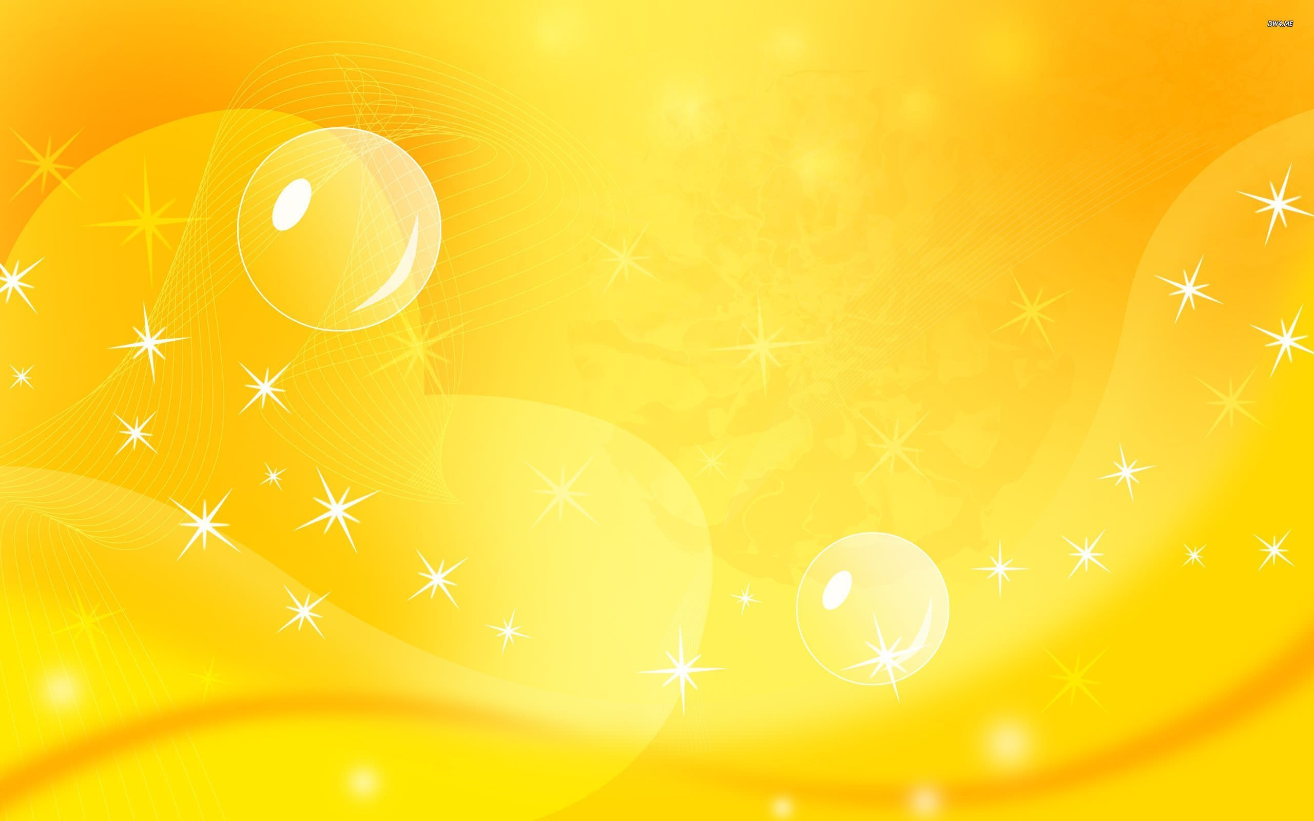 Bright Yellow Background Wallpaper with Sparkles
