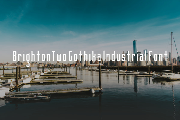 BrightonTwo Gothika Industrial Font