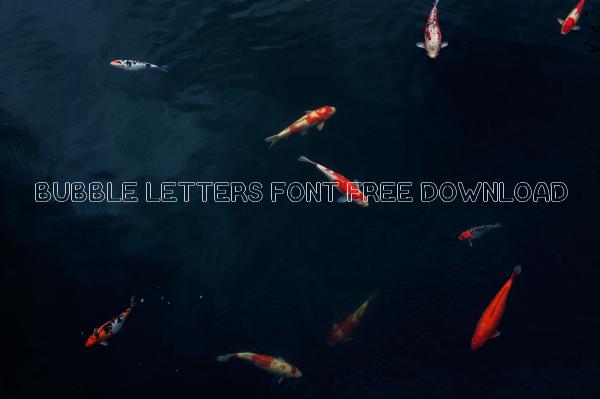 Bubble Letters Font Free Download