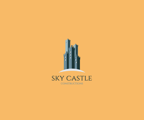 Sky Castle Logo design For Free