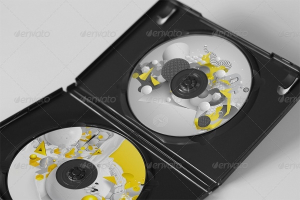 CD DVD Disc & Cover Mockups