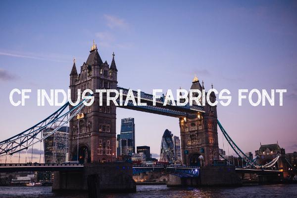 CF Industrial Fabrics Font Download