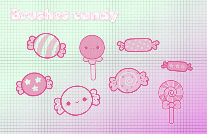 Candy Photoshop Brushes