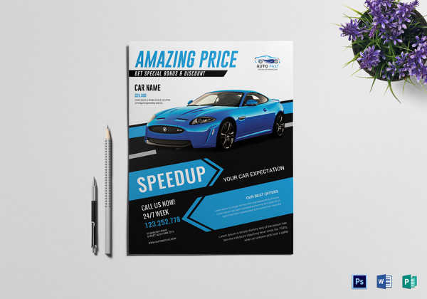 car sales flyer template