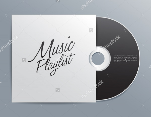 Cd With Cover Illustration