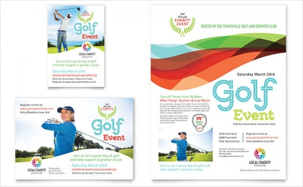 Charity Golf Event Flyer & Template