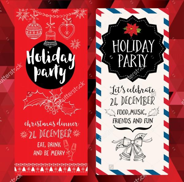 christmas party holiday invitation