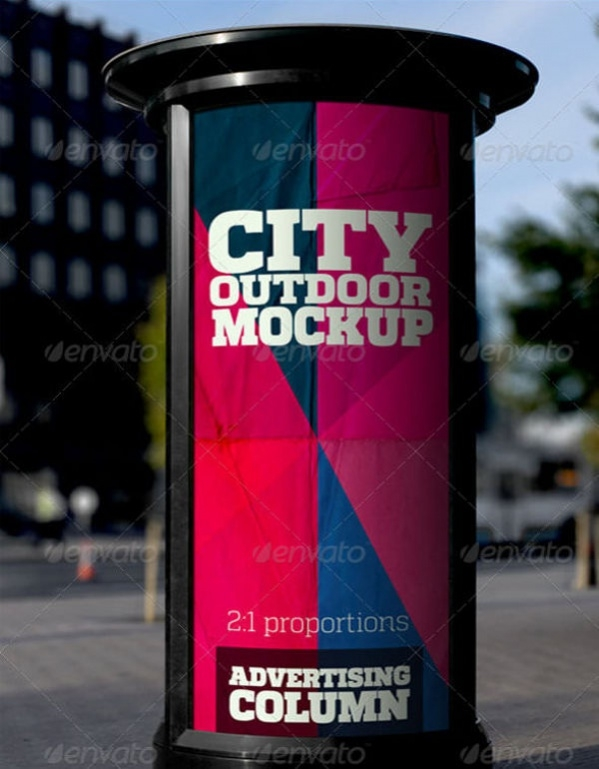 City Outdoor Advertising Mockup PSD