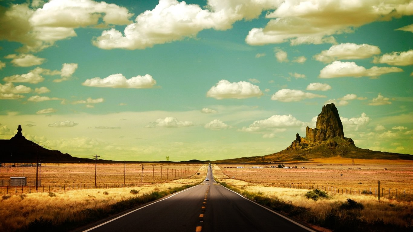 Cloudy Road Background For Free