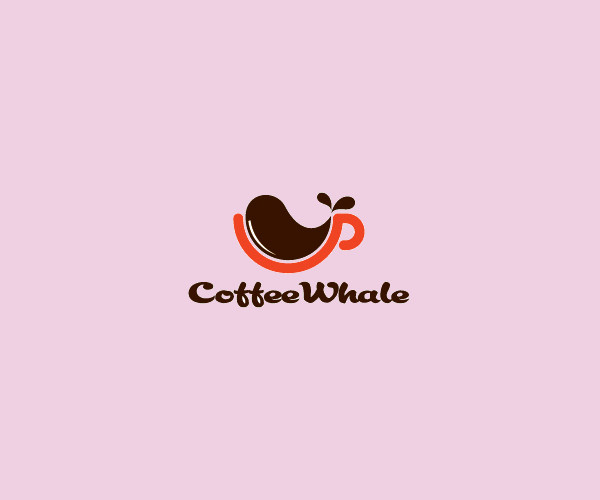 Coffee Whale Logo Design For Free