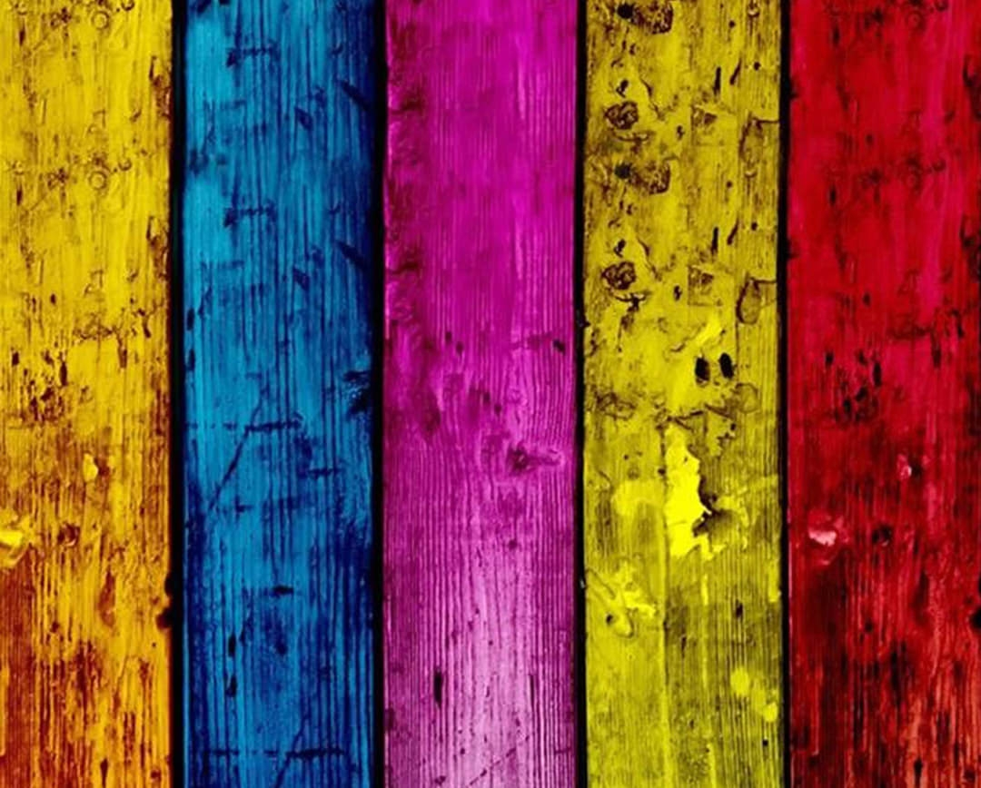Colorful Painted Wood Planks Background Android Wallpaper