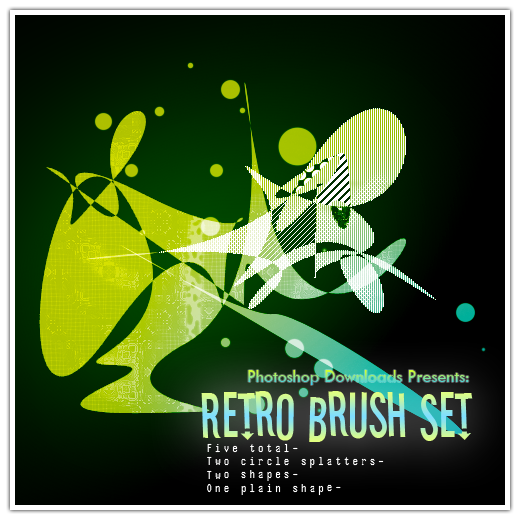 Colorful Retro Brush Set