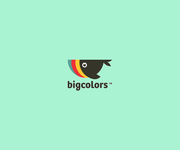 Colorful Whale Fish Logo Design For Free